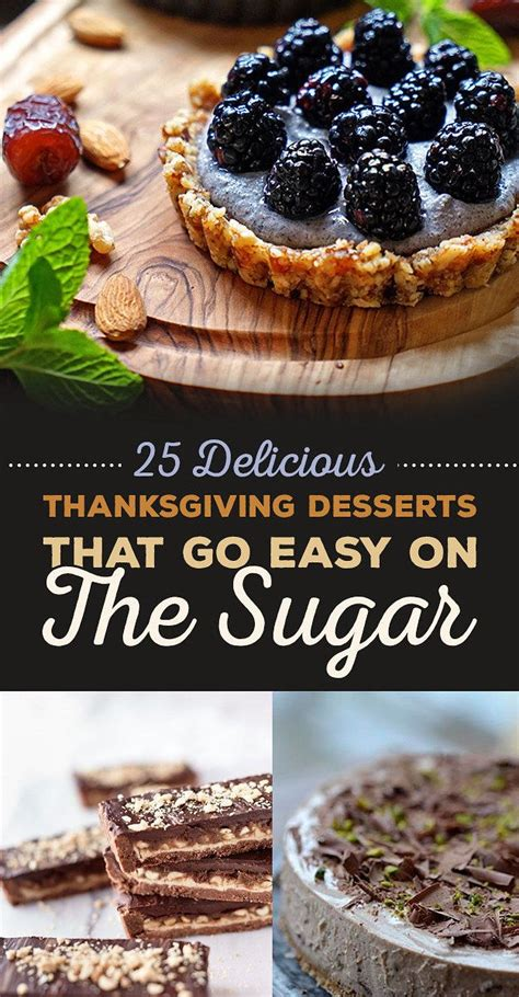 25 delicious thanksgiving desserts that go easy on the