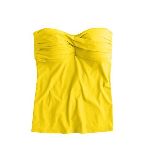 yellow swing top j crew twist front swing tankini top in yellow crisp