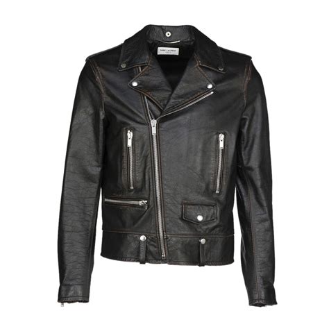 Jaket Biker Leather Coklat Hoodie 64 laurent laurent perfecto jaket black