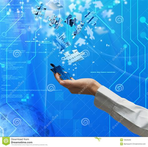 digital photos puzzle technology stock image image of creativity