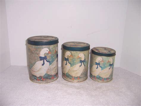 Decorative Kitchen Canister Sets by Triple A Resale Vintage 3 Piece Duck Canister Set