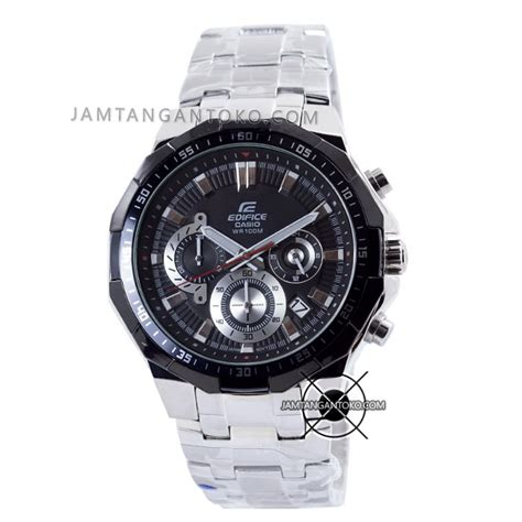 Jam Tangan Pria Edifice Casio Black Silver harga sarap jam tangan edifice efr 554d 1av clone