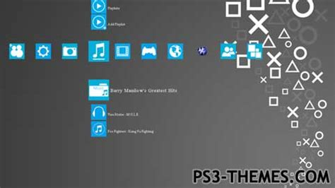 Blue Ps3 8 ps3 themes 187 ps3 metro 8 playstation blue