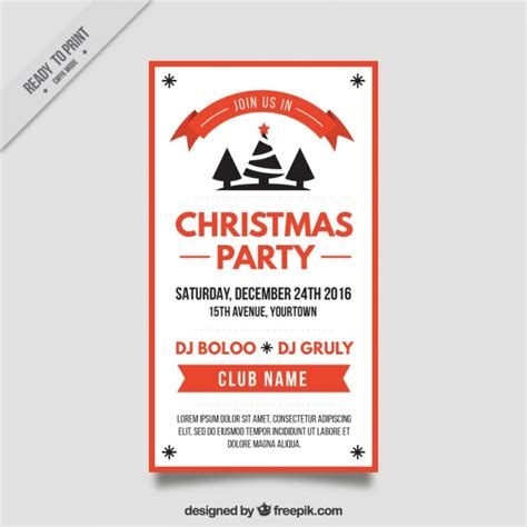 flyer template editor christmas party flyer template vector free download