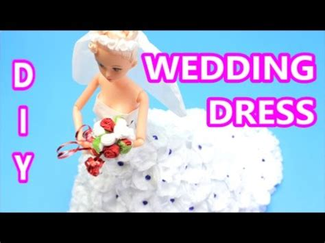 How To Make A Dress Out Of Tissue Paper - how to make a white wedding dress from tissue paper diy