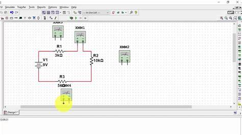 basic   multisim  electronics circuit analysis lab
