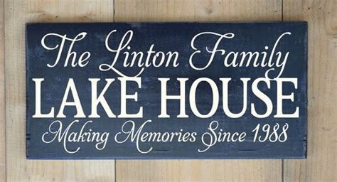 unique house names ideas personalized lake house sign custom family name wood signs