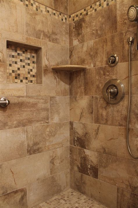 earth tone bathroom designs shower design with beige earth tone tile and mosaic