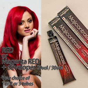 l oreal majirel majicontrast colors 50ml vibrant hair shades l oreal professionnel majicontrast colorant or magenta developer ebay