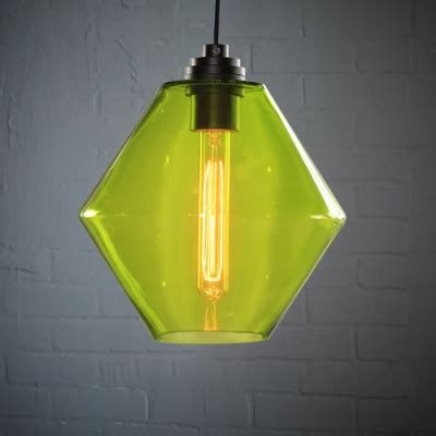 colored glass pendant lights green industrial colored loft glass pendant light