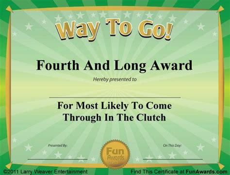 joke certificate templates 34 best awards images on employee awards