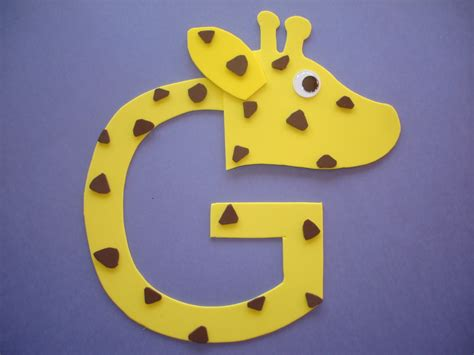 play and learn with letter quot g quot giraffe