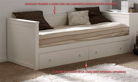 cama lacada blanca cama nido divan blanca lacada mod sevilla habitaci 243 n