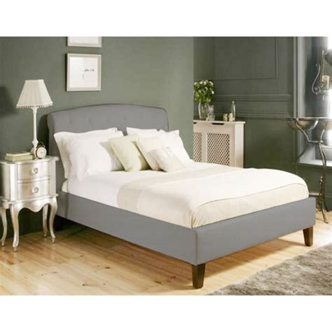 Grey Wooden King Size Bed by St Ii Wooden King Bed Frame In Grey Fabric Buy