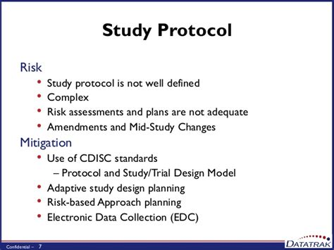 Clinical Trial Protocol Outline by Mitigating Risks In Clinical Studies