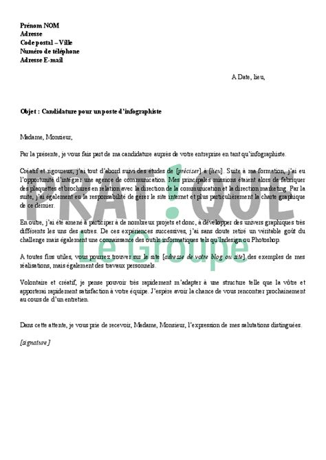 modele lettre de motivation graphiste document