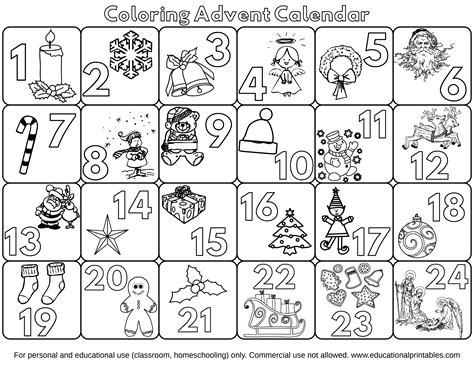 printable advent calendar coloring page free coloring advent calendars educational printables