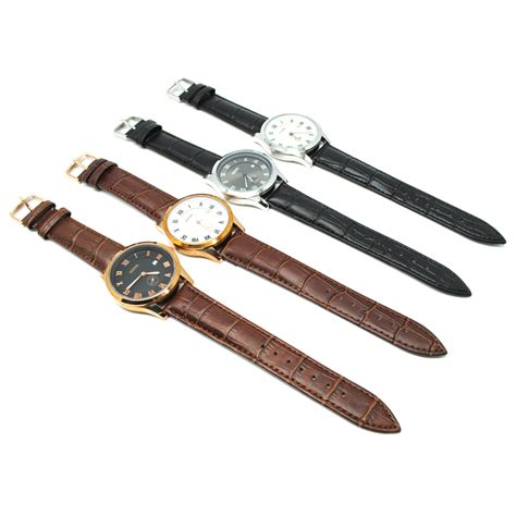 Model Jam Tangan mortima jam tangan kasual pria leather model 2