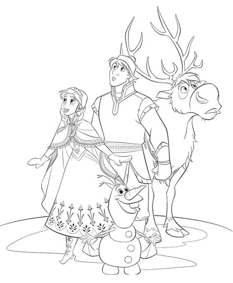 free frozen princess elsa coloring pages