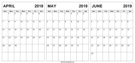 editable april  june  calendar april  june