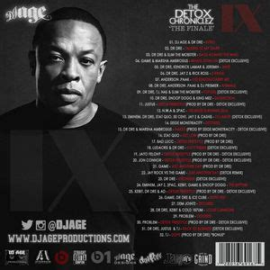 Dr Dre And Z Detox by Dr Dre The Detox Chroniclez Vol 9 The Finale Hosted By