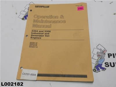 Caterpillar Operation Amp Maintenance Manual 3304 And 3306