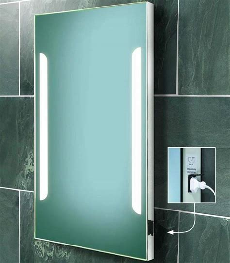 led bathroom mirrors with shaver socket led bathroom mirrors with demister and shaver socket 28
