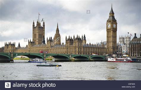 big boat in london view across the river thames taking in london bridge big