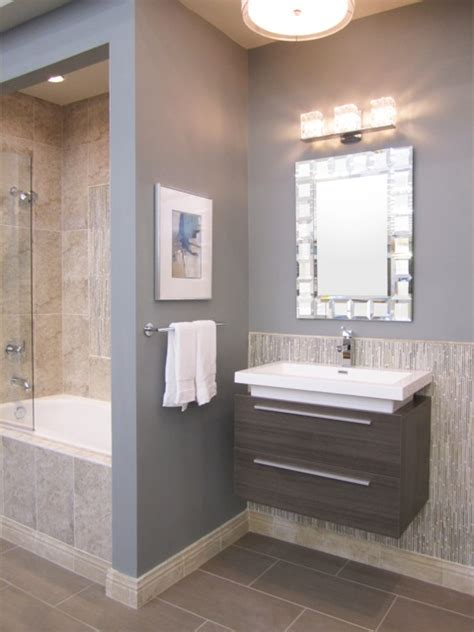 Transitional Bathroom Sherwin Williams Earl Gray 7660