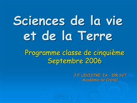 sciences de la vie ppt sciences de la vie et de la terre powerpoint presentation id 711929