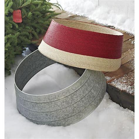 navidad red and natural tree collar