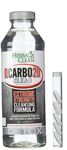 Qcarbo Detox by Herbal Clean Qcarbo Liquid Detox Supplement Strawberry