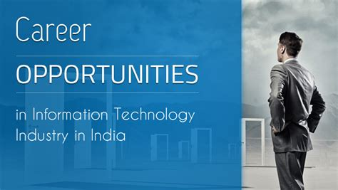 After Mba In Information Technology by Career Opportunities In Information Technology Industry In