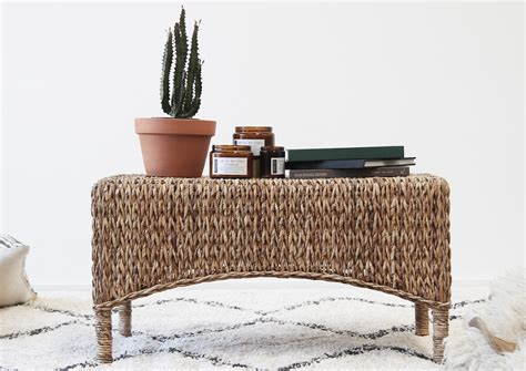 nordic bench nordic coffee table naturally cane rattan and wicker