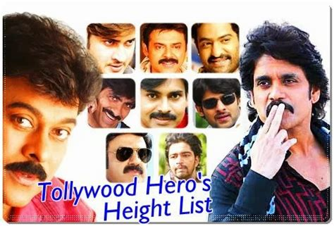 south actor height list telugu heros height tollywood actors height list