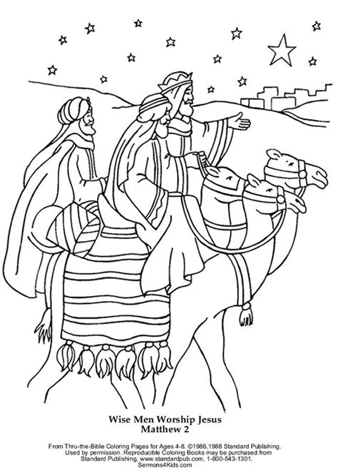 coloring pages jesus birth story wise worship jesus 1 5 2 years after his birth