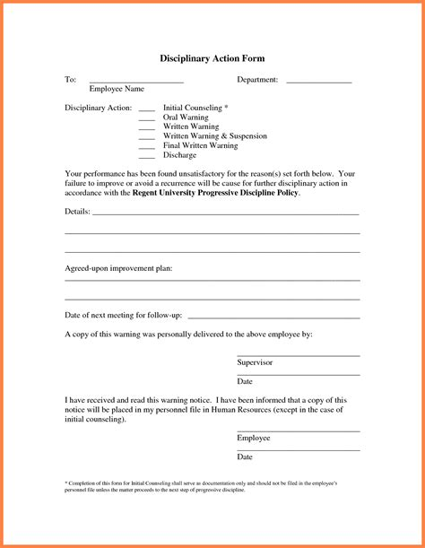 9 Employee Write Up Marital Settlements Information Employee Write Up Template Pdf