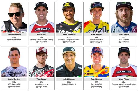 pro motocross riders names motocross hangtown rd1 may 16th 2015 south bay riders