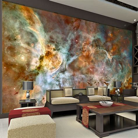 wall murals posters charming galaxy wallpaper nebula photo wallpaper 3d silk