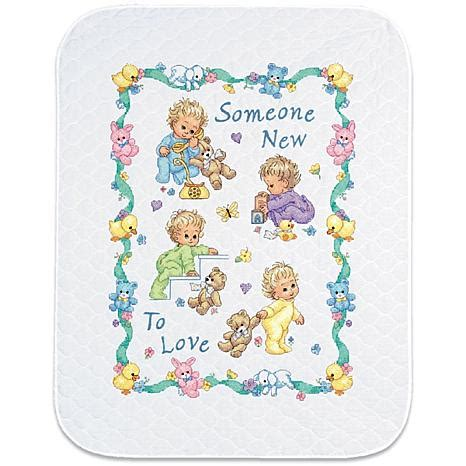 Baby Quilt Cross Stitch by Baby Hugs Quilt Sted Cross Stitch Kit 43 Quot X 34
