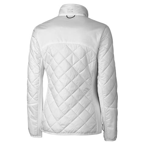 cutter buck womens white weathertec sandpoint quilted