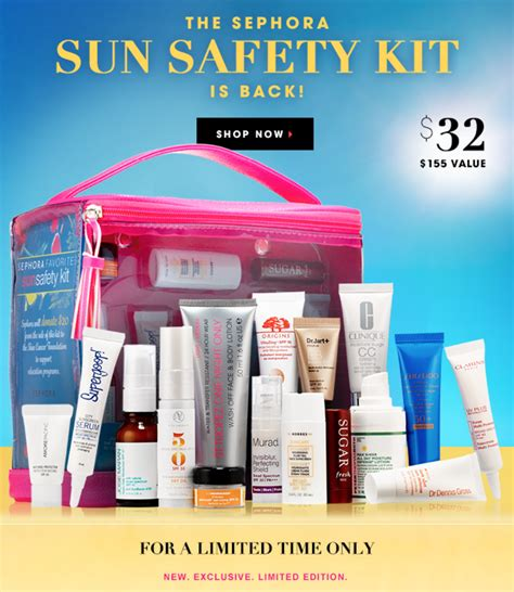 Sephoras Sun Safety Kit Product by Sephora Sun Safety Kit Is Here What S Up Mailbox