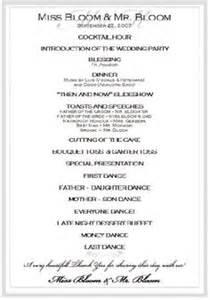 Birthday Program Outline by 1000 Ideas About Wedding Reception Program On Wedding Mc Checklist For Wedding And