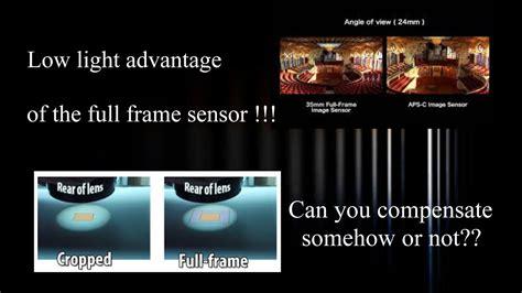 advantages  full frame sensor   smaller sensors