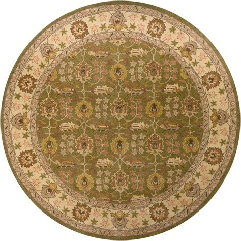 round accent rugs chandra adonia green ivory olive brown 7 ft 9 in indoor