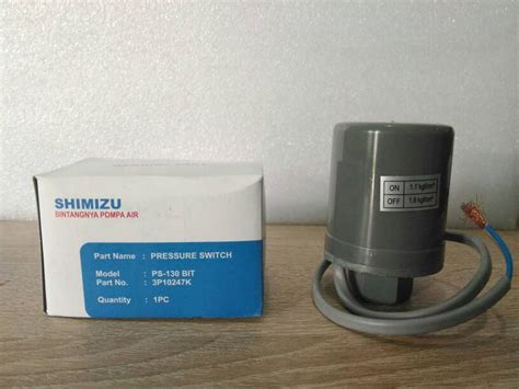 Switch Otomatis Pompa Air jual pressure switch otomatis pompa air shimizu ps 130 bit toko cita media