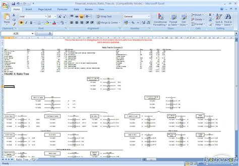 financial ratio analysis template excel free financial analysis ratio tree financial