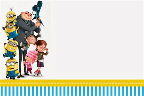 despicable me birthday card template despicable me invitations and free printables oh