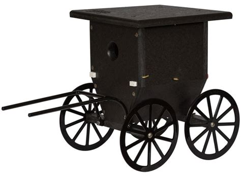 buggy house durable poly lumber amish buggy wren house