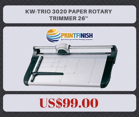 Kw Trio 4 In 1 Rotary Paper Trimmer Alat Pemotong Kertas Cutting Mat kw trio 3020 paper rotary trimmer 26 printfinish print finishing equipment
